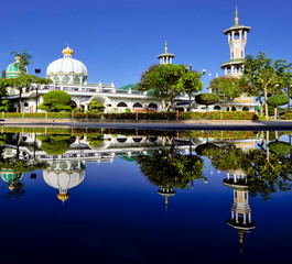 Center Mosque in thailand after rain