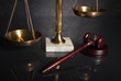 Scales of Justice with gavel