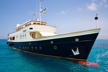 Illetes Illetas Formentera yacht anchored