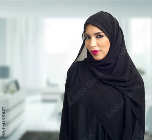 Arabian business woman posing in the office