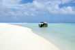 Cruise boat in Aitutaki Lagoon Cook Islands