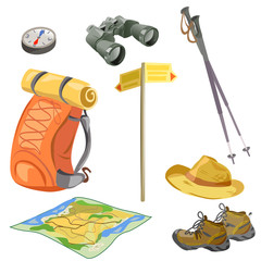 set for the tourist, elements for hikers