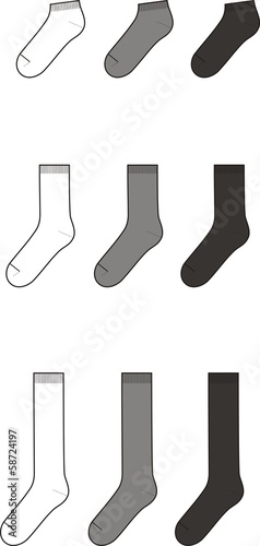 Vector illustration of socks