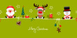 Santa, Rudolph & Snowman Symbols Light Green
