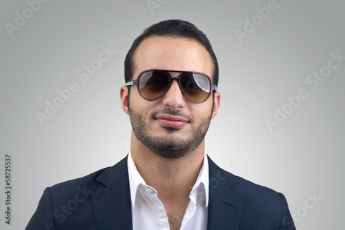 Young caucasian man wearing sunglasses