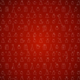 red christmas background with symbols