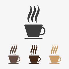 Vector hot coffee icon