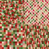 Fototapety seamless christmas colors geometric pattern