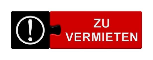 Puzzle-Button schwarz rot: Zu vermieten