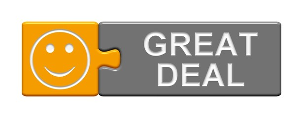 Puzzle-Button orange grau: Great Deal