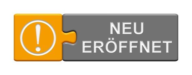 Puzzle-Button orange grau: Neu eröffnet