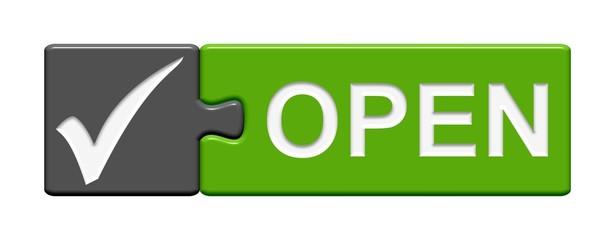 Puzzle-Button grau grün: Open
