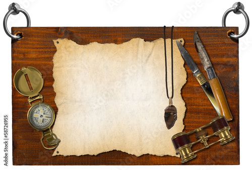 Adventure Stories Signboard with clipping path