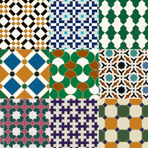 seamless islamic tile geometric pattern