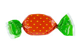Candy or sweet on a white background. Clipping path included.