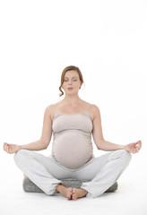 schwangere Frau beim Yoga