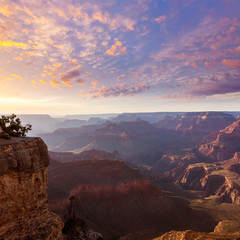 Arizona sunset Grand Canyon National Park Yavapai Point