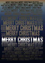 Merry Christmas holiday word cloud background