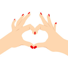 Love Heart Hand Sign
