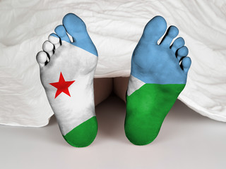 Feet with flag