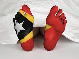 Feet with flag