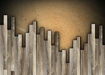 vintage pattern with wood planks