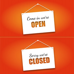 Open And Closed Door Signs Board