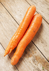 carrot on wooden background