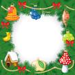 Christmas congratulatory frame