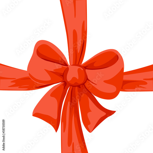 red bow illustration isolated on white background