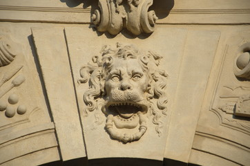 ornamental mask of the main gate, Alba Iulia