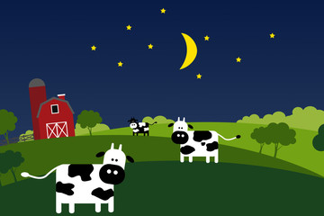Night on the farm