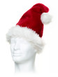 Santa hat on white head
