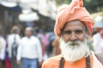 Indian monk , Hindu sadhu , Rajasthan , India