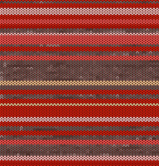 Striped Knit Seamless Pattern with red pink colors, illustration