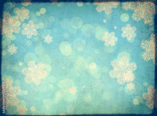 Christmas grunge background with snowflakes