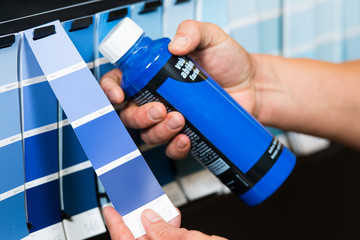 blaue farbpalette