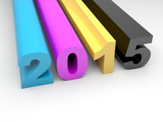 CMYK 2015 Happy New Year calendar background