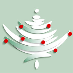 Stylize Symbol of Fir tree, illustration