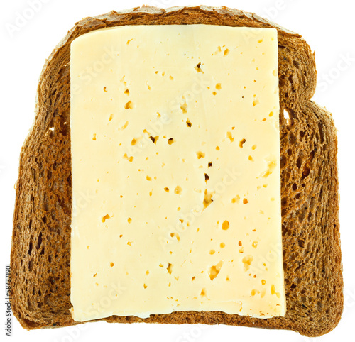 top view of bread and cheese sandwich