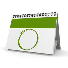 Blank green calendar