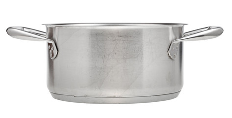 small stainless steel saucepan