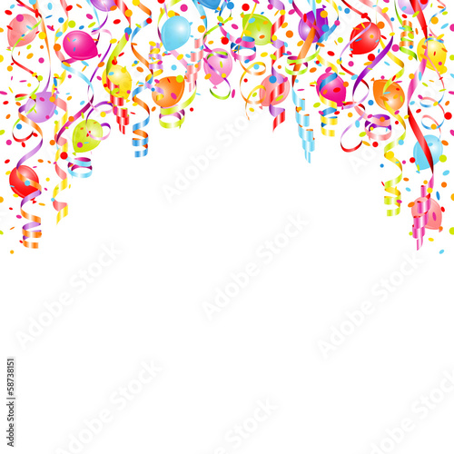 Streamers, Confetti & Balloons Color