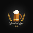 beer mug barley vintage design background