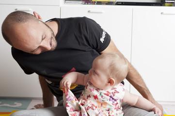 Bambina e papà
