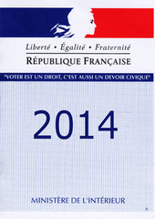 Carte électorale française 2014