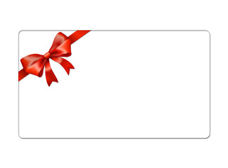 Christmas Gift Card with red bow