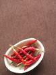 小皿の赤唐辛子