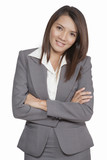 Portrait of a young attractive businesswoman smiling positive
