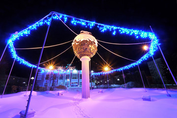 NADYM, RUSSIA - FEBRUARY 25, 2013: New Year - a holiday.
